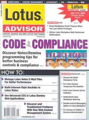 Lotus Advisor Magazine